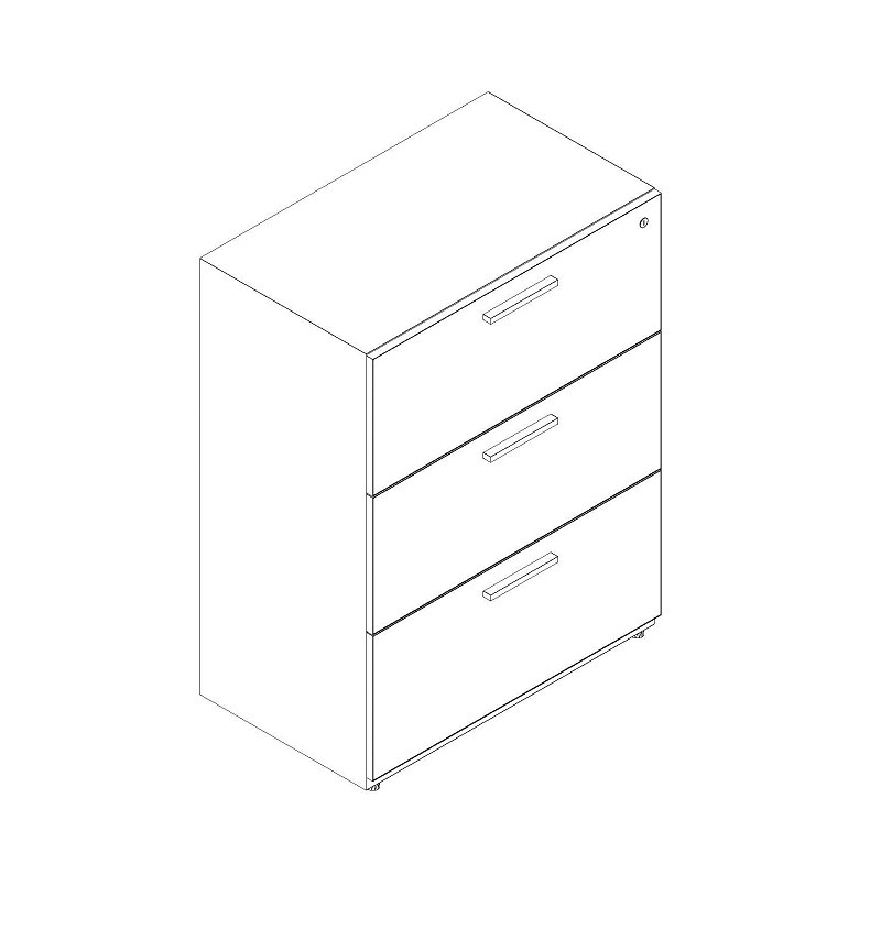 """3 Drawer Lateral 36"""" Width"""