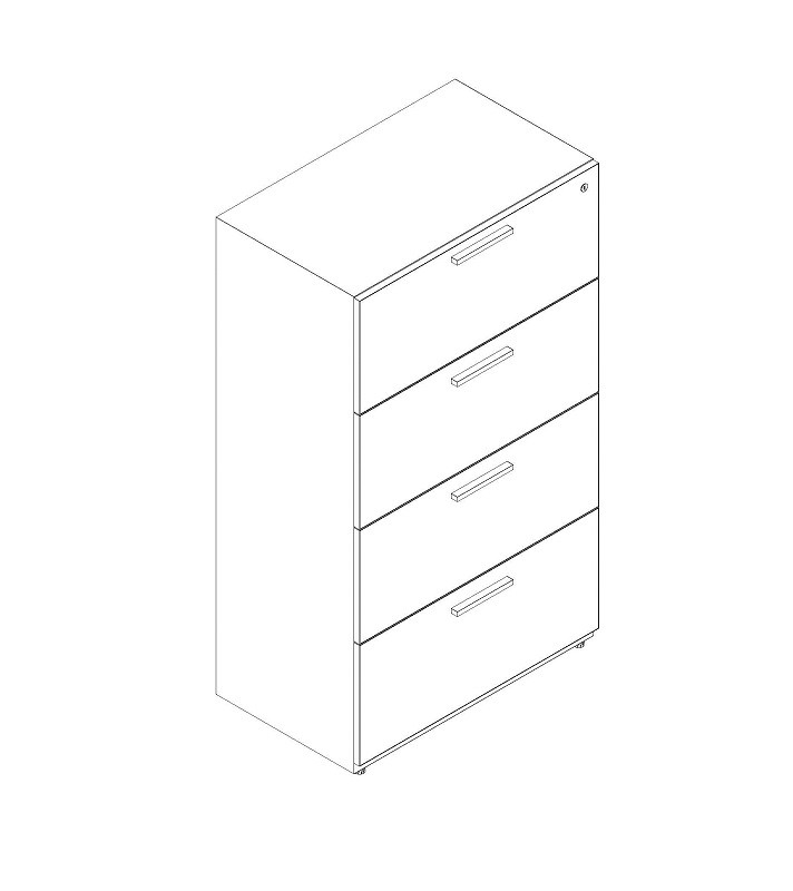 """4 Drawer Lateral 24"""" Width"""
