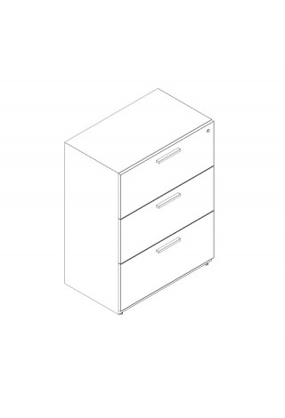 "3 Drawer Lateral 24"" Width"