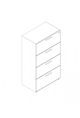 "4 Drawer Lateral 36"" Width"