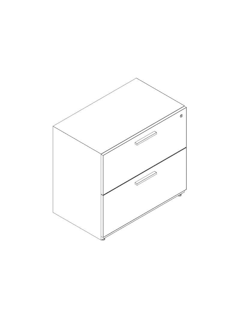 """2 Drawer Lateral 36"""" Width"""