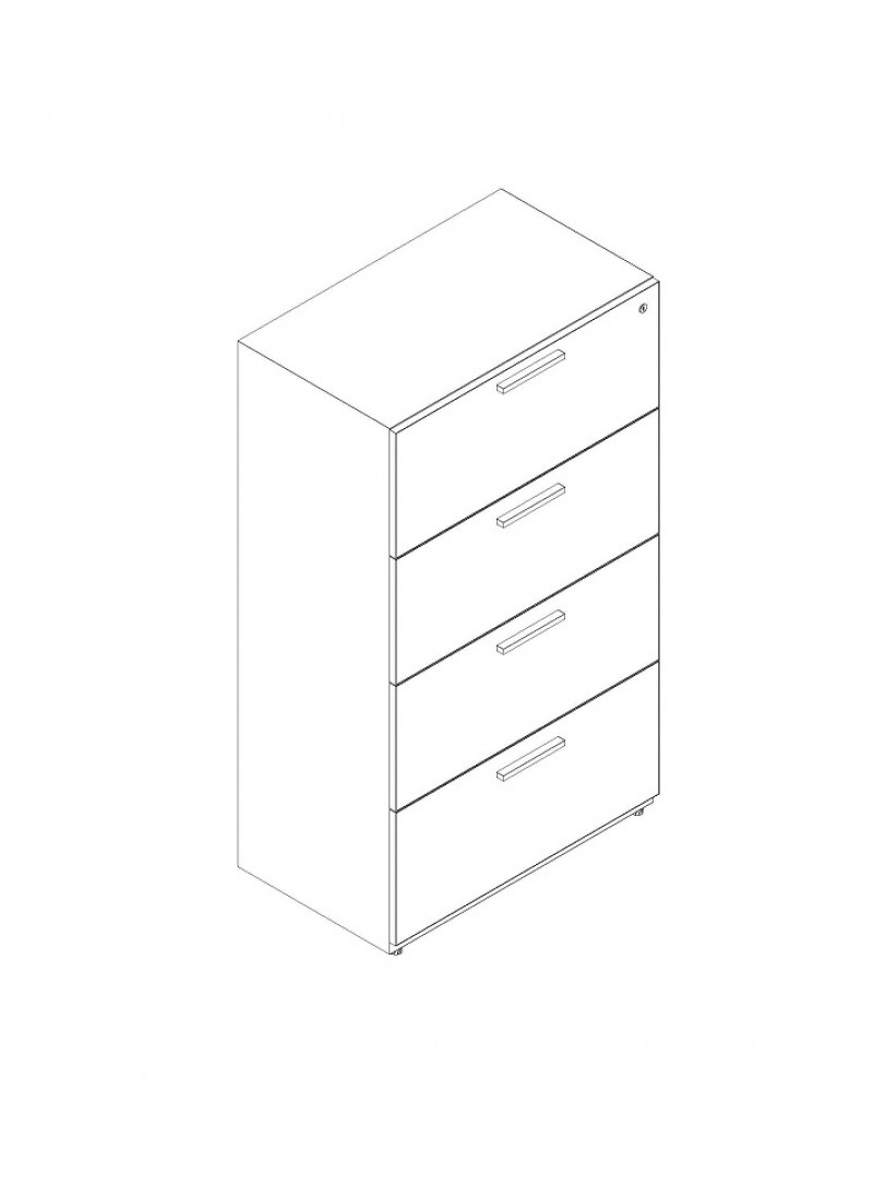 """4 Drawer Lateral 36"""" Width"""